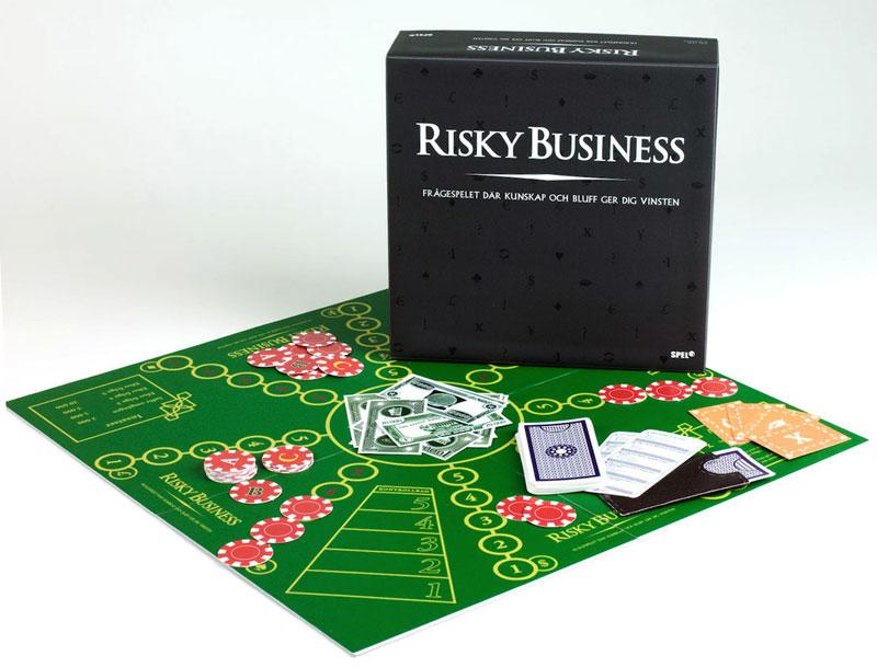 Vårt sällskapsspel Risky Business